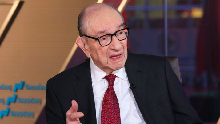 Mantan Gubernur The Fed Alan Greenspan (Foto: Anjali Sundaram/CNBC)