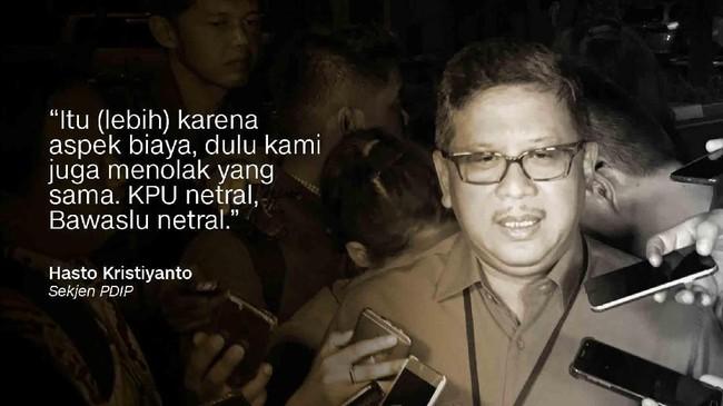 Sekretaris TKN Jokowi-Ma'ruf / Sekjen PDIP Hasto Kristiyanto.