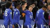 Gol Marc Albrighton merupakan gol pertama yang pernah ia cetak ke gawang Manchester City dalam 14 pertemuan melawan klub tersebut. (REUTERS/Darren Staples)