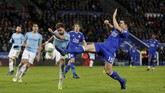 Manchester City bertandang ke markas Leicester City dalam laga perempat final Piala Liga Inggris. (REUTERS/Darren Staples )