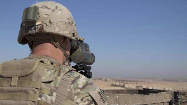 Kemenhan AS menyatakan khawatir keputusan Trump akan membuat Suriah menjadi ancaman sekutu mereka di Timur Tengah, Israel. (Courtesy Zoe Garbarino/U.S. Army/Handout via REUTERS).