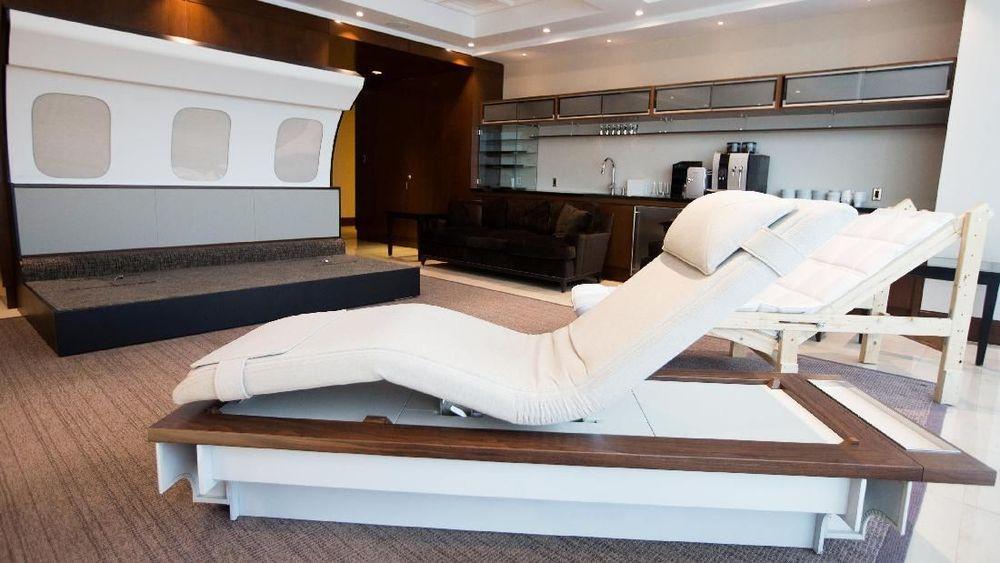 Wah Isi Pesawat Jet Ini Seperti Kamar Hotel Mewah
