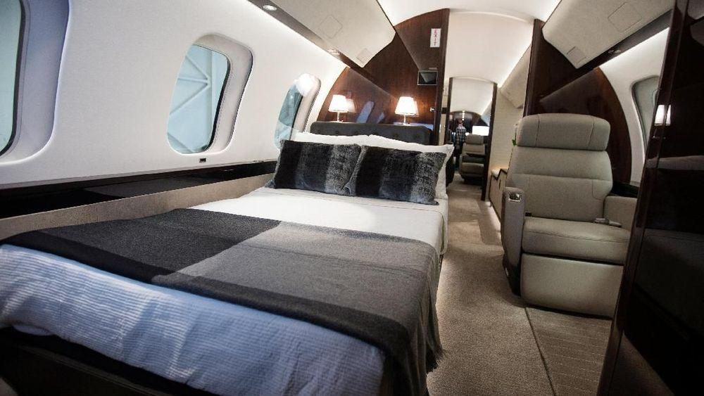 Pesawat ini dibangun demi memenuhi permintaan para crazy richyang menginginkan jet dengan fitur bergaya hotel. (REUTERS/Christinne Muschi)