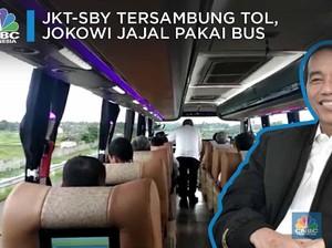 Jokowi Jajal Langsung Tol JKT-SBY Pakai Bus