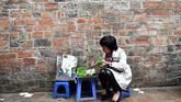 Cha ruoi bukan satu-satunya makanan menjijikan yang ada di Vietnam. Selain itu, ada pula jangkrik goreng, larva cacing kelapa, dan serangga yang kesemuanya ditawarkan dalam sajian kuliner khas Vietnam. (Photo by Manan VATSYAYANA/AFP)