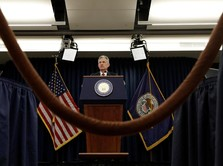 Mengintip Wajah Serius Bos The Fed Jelaskan Kebijakan Moneter