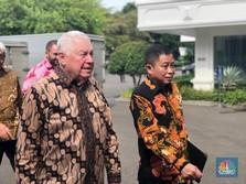 Akuisisi Kelar, Bos Freeport Lapor Jokowi Sambil Tersenyum