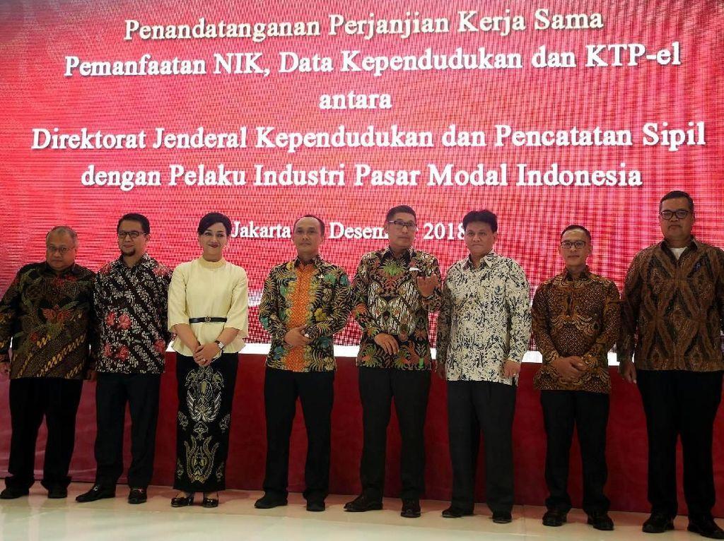 KSEI dan 105 pelaku pasar modal Indonesia melakukan kerja sama pemanfaatan data Ditjen Dukcapil untuk mempercepat pembukaan rekening investasi.