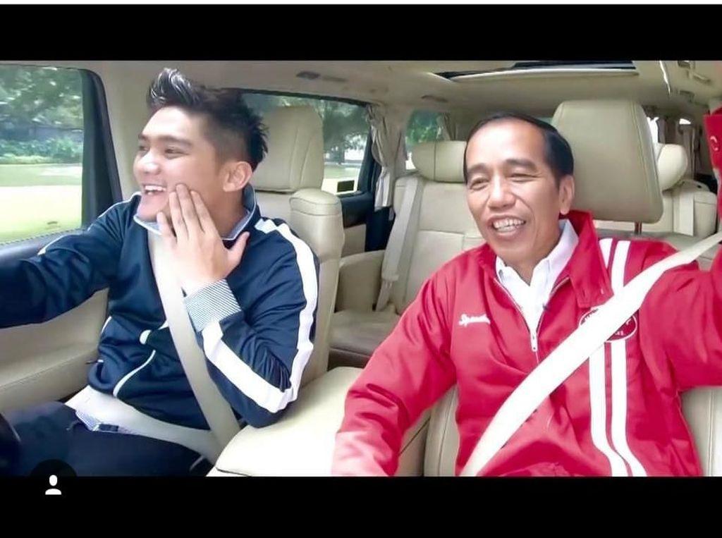 Jokowi 'Numpang' Alphard Boy William