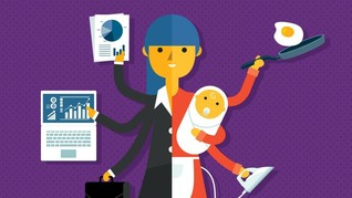 INFOGRAFIS: Ibu Sibuk Sepanjang Hari