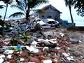 VIDEO: Pantai di Banten Luluh Lantak Diterjang Tsunami