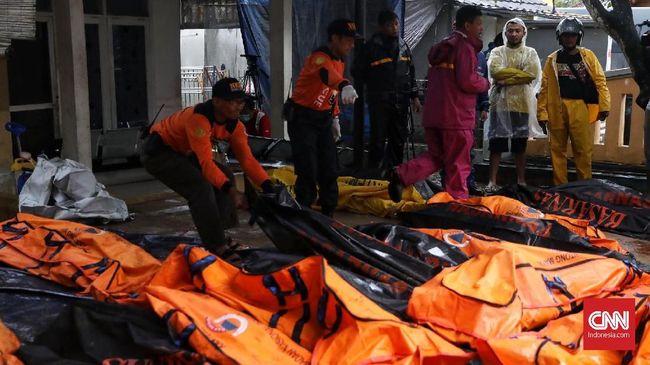 Tim DVI Identifikasi 204 Jasad Korban Tsunami Selat Sunda
