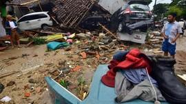 FOTO: Tsunami Terjang Selat Sunda