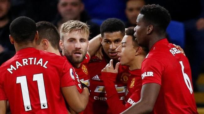 Seluruh penggawa Man United tampak lebih bergairah dan bermain lepas bersama manajer anyar, Ole Gunnar Solskjaer. (Reuters/Craig Brough)