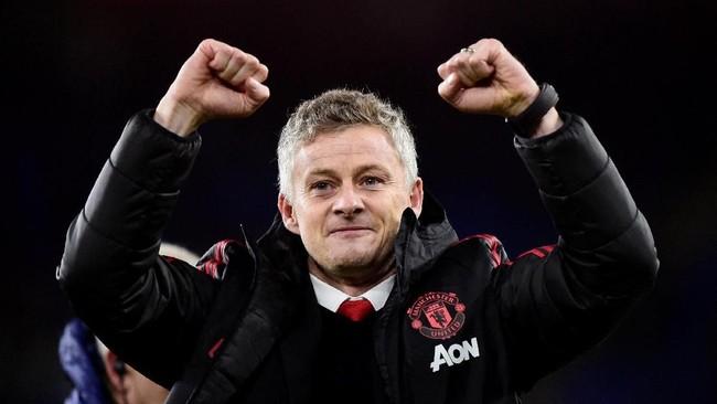 Ole Gunnar Solskjaer menjadi pelatih pertama yang sukses membawa MU mencetak lima gol sejak terakhir kali dilakukan Sir Alex Ferguson pada lima tahun silam. (REUTERS/Rebecca Naden)