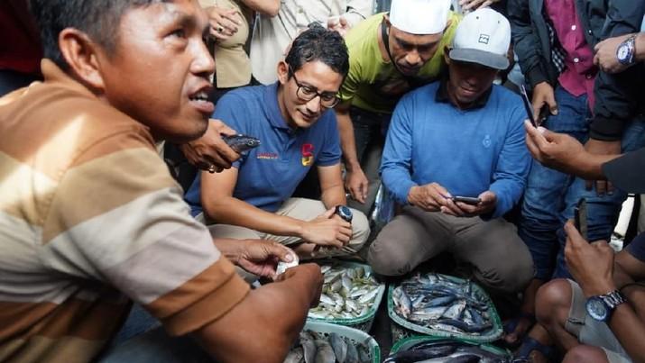 Di Takalar Sulsel, Sandiaga Uno Diberondong Masalah Nelayan