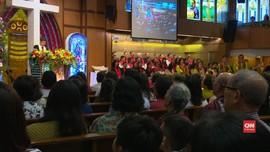 VIDEO: Natal Pertama Pascaledakan Bom di Surabaya