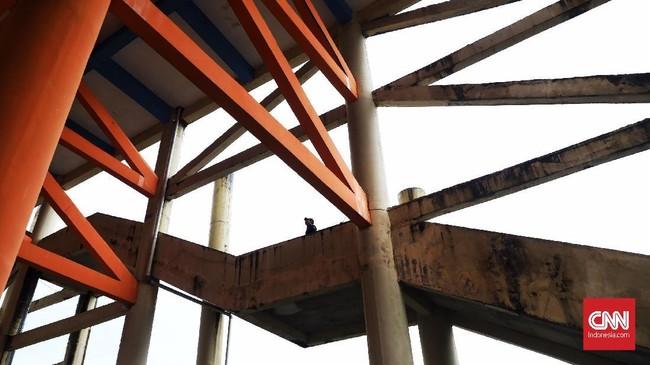 Bangunanini semestinya dirawat agar bisa dipakai untuk berlindung saat tsunami menerjang.(CNN Indonesia/ Hesti Rika)