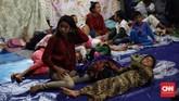 Saat ini tercatat ada 5.665 orang mengungsi selepas tsunami Selat Sunda. (CNN Indonesia/Hesti Rika).