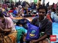 Kedatangan Jokowi dan Gembira Sesaat Korban Tsunami Banten