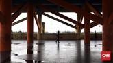 Bangunan seluas 2,456 meter persegi tersebut tak pernah digunakan sebagaimana fungsinya. (CNN Indonesia/ Hesti Rika)