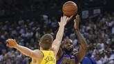 LeBron James yang kembali ke LA Lakers musim ini menyumbang angka 17 poin untuk timnya. (Kyle Terada-USA TODAY Sports)
