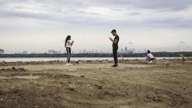 FOTO: Wajah Pulau Reklamasi Jakarta Sambut Malam Tahun Baru