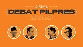 INFOGRAFIS: Jadwal Debat Pilpres 2019