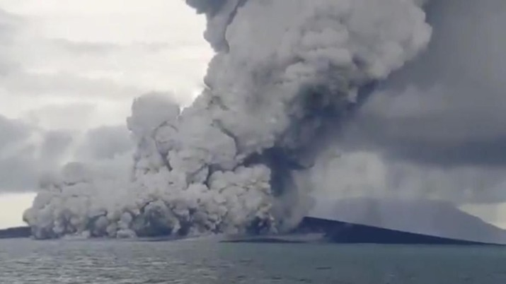 Status Siaga, Ini Penampakan Terakhir Gunung Anak Krakatau