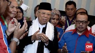 Ma'ruf Kaget Sujiatmi Wafat, Prabowo Doakan Jokowi Tegar