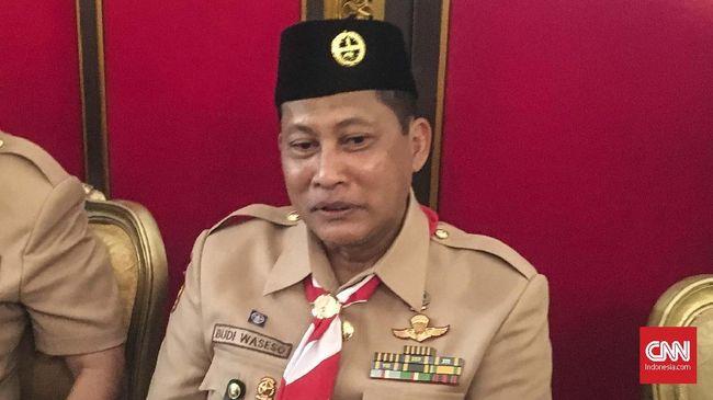 Jokowi Resmi Lantik Buwas Jadi Ketua Kwarnas Pramuka