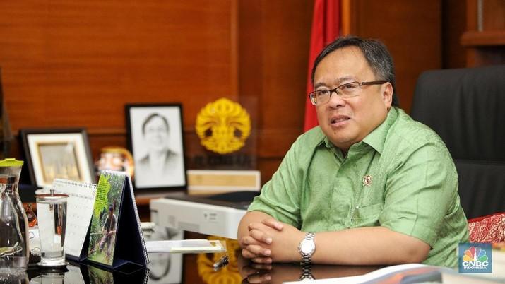 Menteri PPN/Kepala Bappenas Bambang Brodjonegoro. (CNBC Indonesia/Andrean Kristianto)