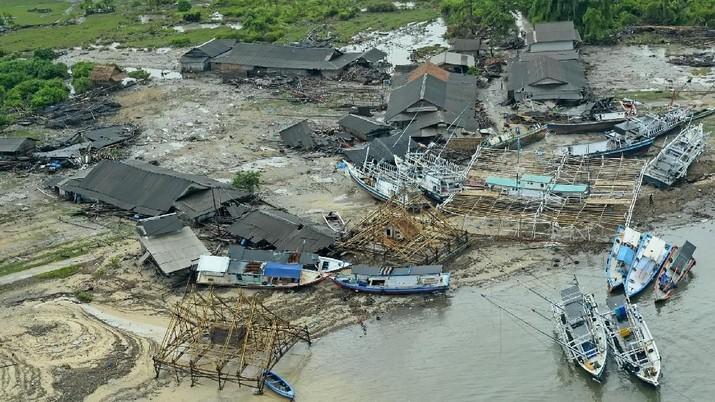 Penampakan Banten dari Udara Usai Tsunami Selat Sunda