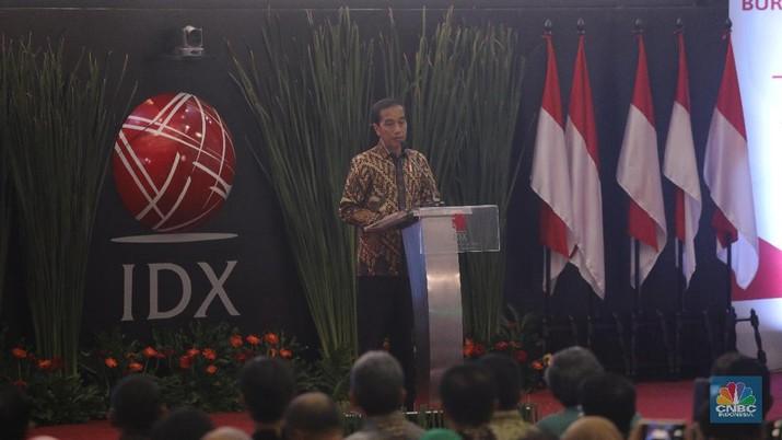Dapat Bisikan, Jokowi Bangga IHSG Jadi Terbaik Kedua di Dunia