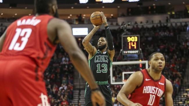 Boston Celtics sempat tampil apik dan mencetak 31 poin di kuarter kedua. Hal itu membuat Celtics hanya tertinggal satu bola, 55-57 di akhir babak pertama. (REUTERS/Troy Taormina-USA TODAY Sports)