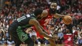 Houston Rockets memimpin 35-24 di kuarter pertama dengan mengandalkan kehebatan James Harden. (REUTERS/Troy Taormina-USA TODAY Sports)