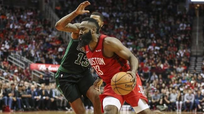 James Harden terus tampil gemilang. Houston Rockets mencetak 70 poin di dua kuarter terakhir dan menyudahi laga dengan kemenangan 127-113. (REUTERS/Troy Taormina-USA TODAY Sports)
