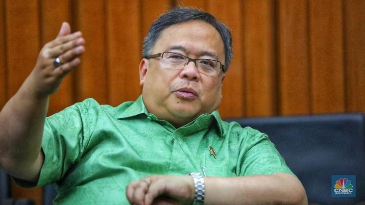 Menteri PPN/Kepala Bappenas Bambang Brodjonegoro (CNBC Indonesia/Andrean Kristianto)