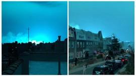 Ledakan Pembangkit Listrik, Langit Malam New York Jadi Biru