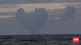 Tinggi Gunung Anak Krakatau Menyusut Tinggal 110 Meter