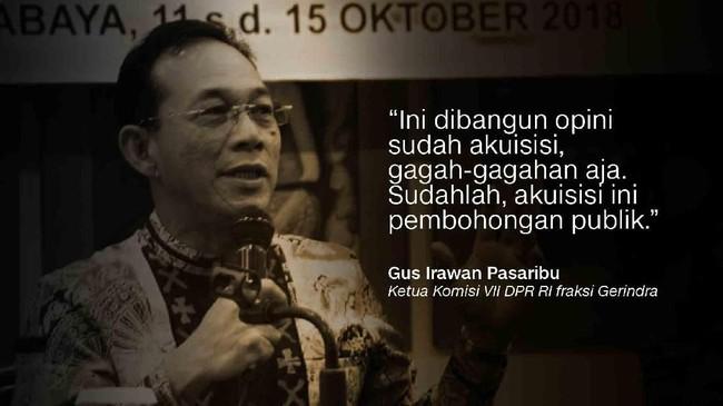 Gus Irawan Pasaribu, Ketua Komisi VII DPR RI fraksi Gerindra.