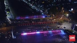 Malam Tahun Baru, Semarang Pamer Jembatan Air Mancur Menari