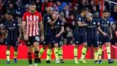 Kemenangan atas Southampton membuat Manchester City kembali ke jalur kemenangan setelah kalah dari Crystal Palace dan Leicester City. Man City kini terpaut tujuh poin dari Liverpool di puncak klasemen Liga Primer Inggris. (REUTERS/Eddie Keogh)