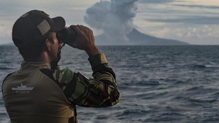 Aktivitas Krakatau Meningkat, Batas Aman Laut Radius 5 Km