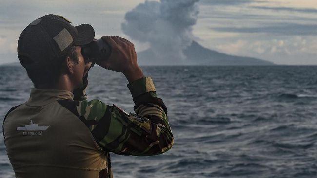 Senin Pagi, Letusan Anak Krakatau Picu Empat Kegempaan