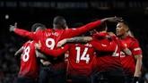 Kemenangan atas Bournemouth merupakan kemenangan ketiga beruntun Ole Gunnar Solskjaer sejak menggantikan Jose Mourinho. (REUTERS/Phil Noble)