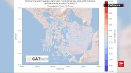 VIDEO: Peta Sebaran Tsunami Selat Sunda