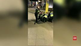 VIDEO: Penangkapan Pelaku Penusukan di Stasiun Manchester