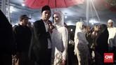 Anies menyebut kegiatan nikah massalakan menjadi tradisi baru dalam perayaan malam pergantian tahun di Jakarta.(CNN Indonesia/Andry Novelino)
