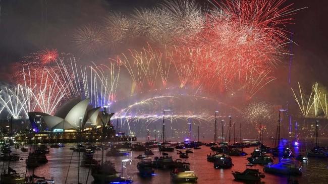 Perayaan tahun baru terbesar di Australia biasanya diselenggarakan di Sydney, yang juga merupakan kota terbesarnya. (Reuters/Brendan Esposito)
